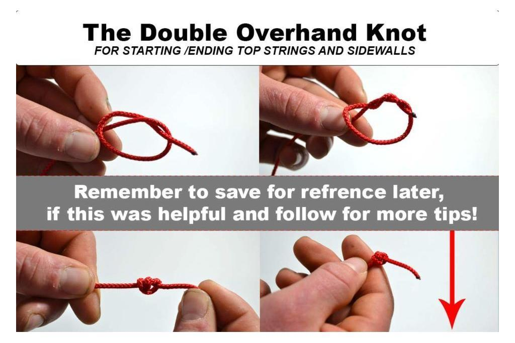 How to string a double overhand knot