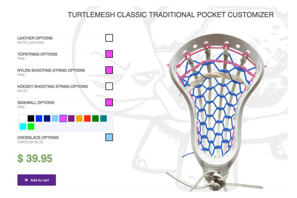 turtle mesh classic traditional pocket customizer