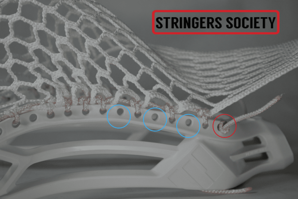 how to string a lacrosse stick step by step